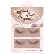 Pink Brown Eyelash / love switch