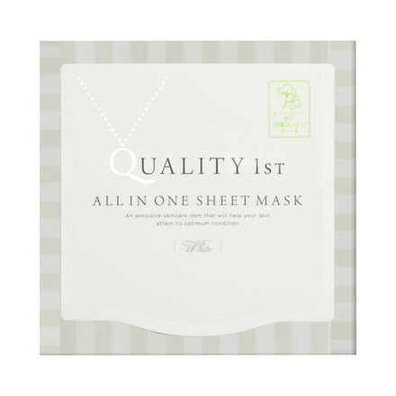 ALL IN ONE SHEET MASK WHITE EX / QUALITY FIRST