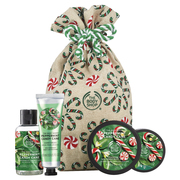 Festive Sack of Peppermint Candy Cane Delights / THE BODY SHOP
