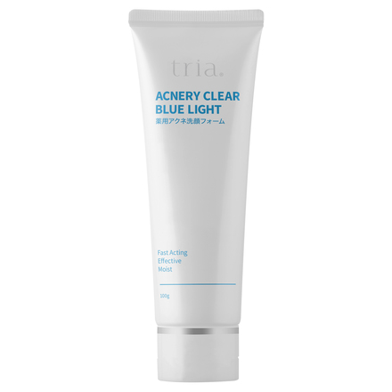 Tria Acnery Clear Blue Light Medicated Acne Face Wash Foam Cosme